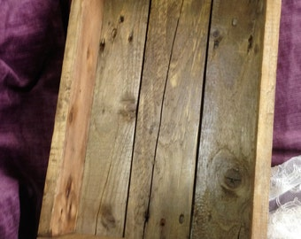 Upcycled Pallet Box / Tray / Shelf