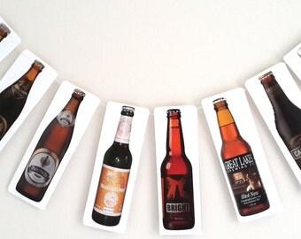 Beer Bottle Bunting / Garland - Beer Banner - Beer Bunting -October Fest Bunting -Birthday Decor -Celebration Banner.