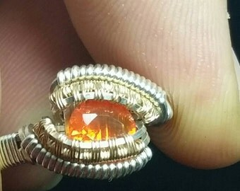 Mexican fire opal size 7