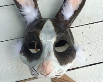 Rabbit Mask/ Paper mache animal mask