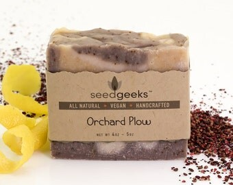 Orchard Plow Handmade Soap - All Natural Soap, Lemongrass Soap, Citrus Soap, Handcrafted Soap, Vegan Soap, Palm Free, Cold Process Soap