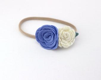 Felt Flower Headband, Baby Headband, Felt Headband, Nylon Headband, Felt Flowers, Nylon