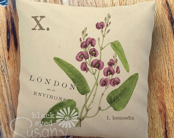 """Purple Kennedia Botanical Pillow Cover 