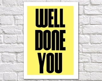 Well Done Card | Exams Well Done Card | Exams Congratulations Card | Passed Exams Card | Driving Test Card | New Job Card | Well Done You