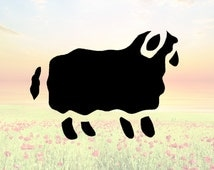 Sheep Stencil or Wall Decal DIY Project