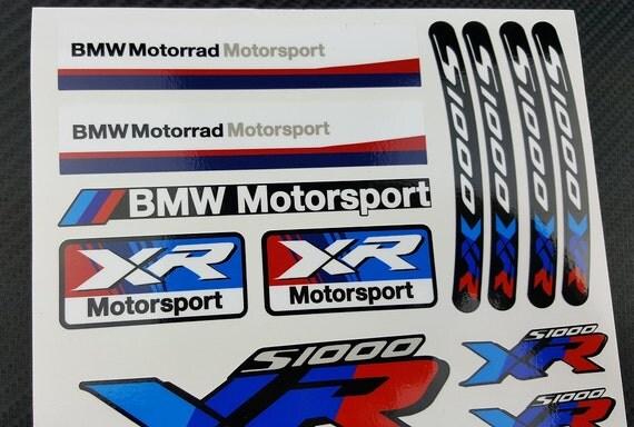 BMW Motorrad SXR Two Decal Sheets Set Stickers Fairing - Bmw motorrad motorsport decals