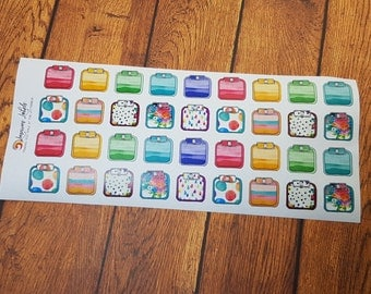 Watercolour Weight Tracking Scales (36)
