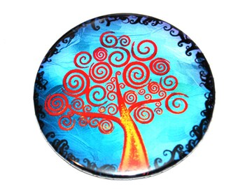 Tree of Life Button Badge (or magnet, bottle opener or pocket mirror)