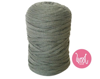 Chunky Cotton Yarn. Moss Green Super chunky fabric yarn. super bulky wool. Giant big extreme knitting. Y059