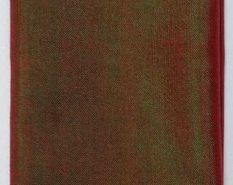 Women's 100% Handwoven Iridescent Brown Ethiopian Cotton Scarf w/ Color Contrasted Decorative Design