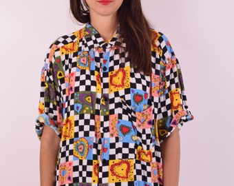 Vintage Shirt with hearts (476)