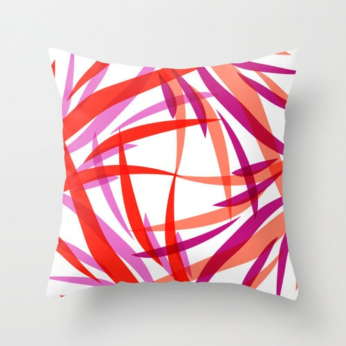 Pink Purple Decorative Pillows : Red and White Throw Pillows Salmon Pink Purple Pillow Covers