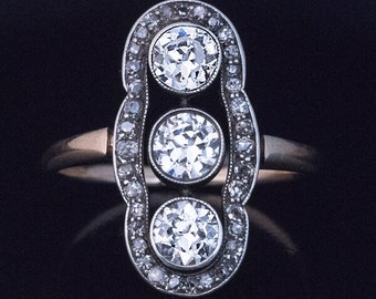 Edwardian Era Antique Diamond Ring by Lourie