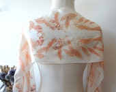 Eucalyptus Eco Print Silk Scarf