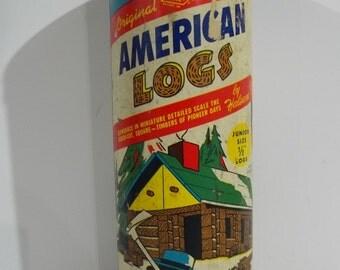 Halsam Set # 88 Junior Size American Log Building Toy