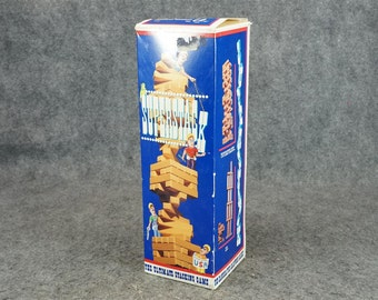 Superstack The Ultimate Stacking Game With Handcrafted Hardwood Blocks C. 1993