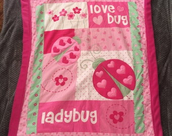 Lady bug, love bug blanket