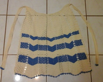 Vintage Apron hand crochet