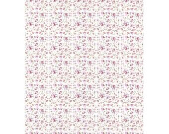 Pink Floral Pattern, Floral Paper, Pink Floral Paper, Cyclamen Print, Cyclamen Pattern, Tinny Flowers, Decoupage Paper, Scrapbook paper,