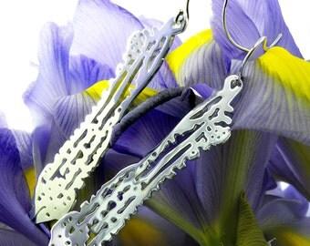Silver Filigree Earrings, Sea Animal Earrings, Seashell Earrings, sea life, Wedding, Gift for Her, Birthday, Anniversary