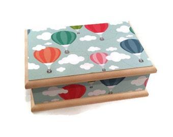 Hot Air Balloon Themed Baby Keepsake Box