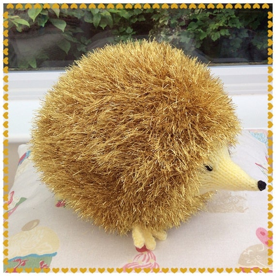 Tinsel Hedgehog Knitting Pattern : Knitted Tinsel Hedgehog / knitted toys / soft by ...