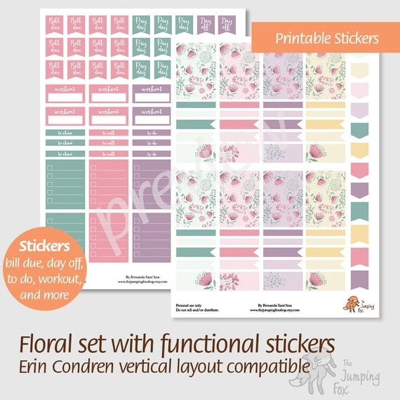 Rare image within free printable functional planner stickers