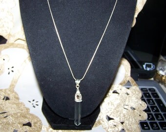 Crystal point and Smokey topaz Pendent