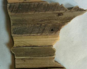 Minnesota - Reclaimed Wood Cutout