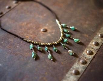 INDIANA NIGHTS - Turquoise Necklace - Boho Gypsy Jewelry