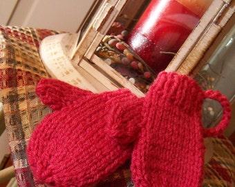 Mini Hand-knit Mittens