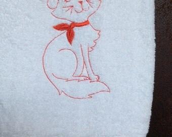 Cat Guest towel