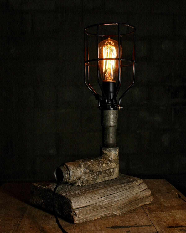 Pipe Lamp Industrial Lamp Urban Pipe Lamp By: Rustic Pipe Lamp Desk Lamp Table Lamp Industrial Lamp