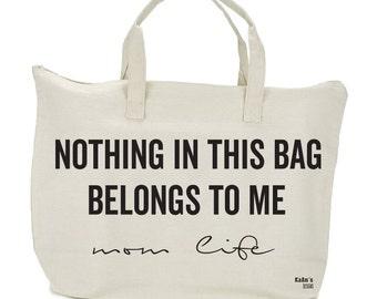 Unisex   La lona   Bolso de pañales   Bolsa con bolsillos   Con cremallera    Bebé   Grandes   Viajes   Bolso de mano   Nada en esta bolsa Me pertenece   Mamá