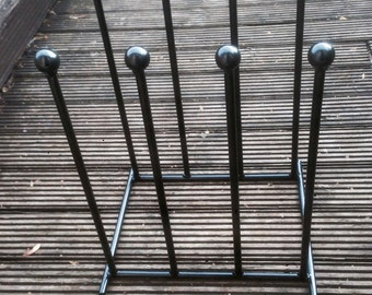 Wrought iron welded 4 pair wellington boot  welly rack