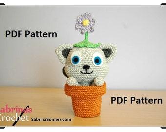 Crochet pattern Playful Cat