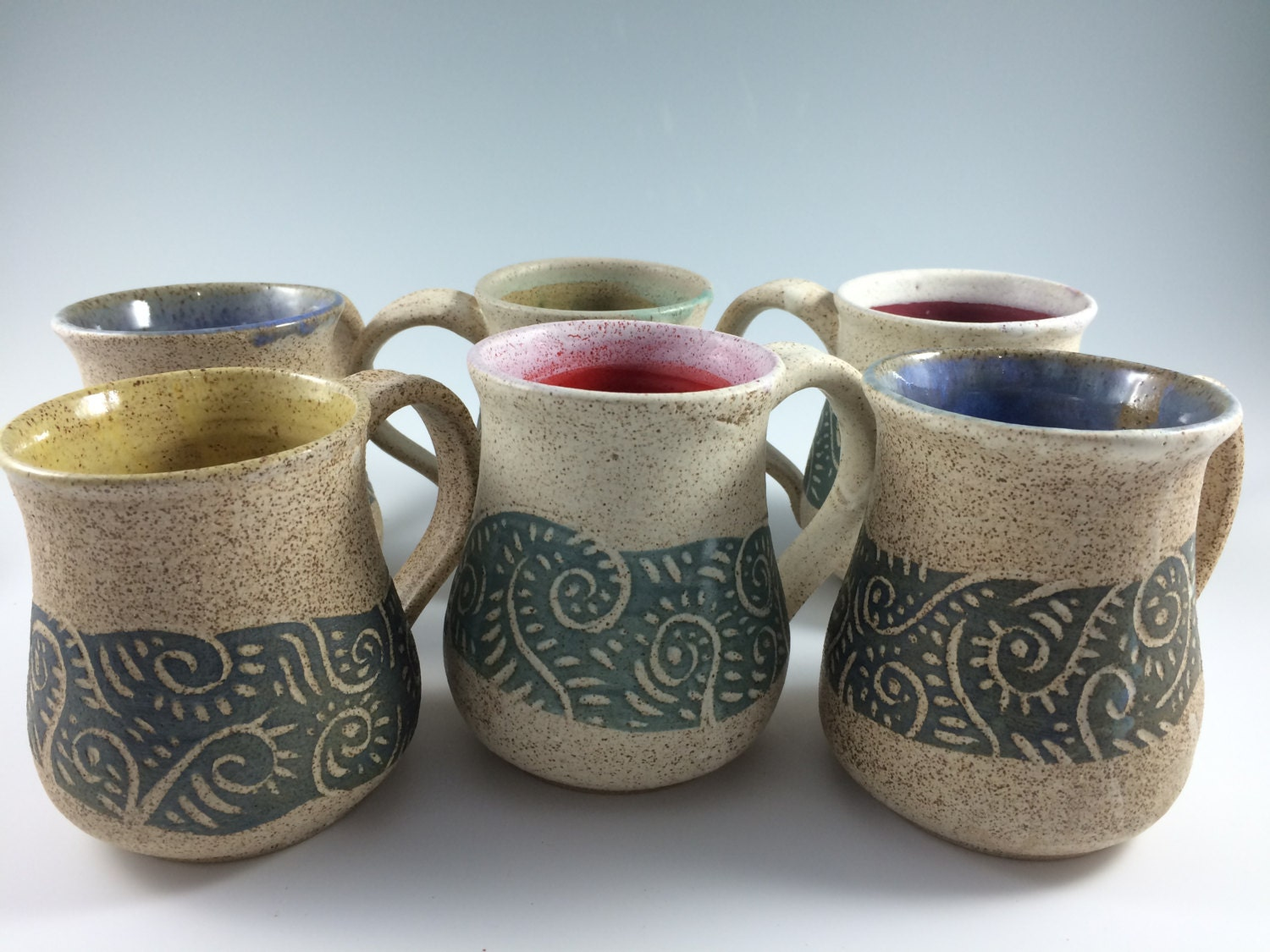 Handmade pottery coffee mugs pottery mug by zwellynpottery Unique coffee cups mugs