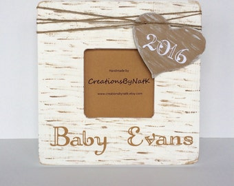 Personalized Baby Frame, Ultrasound Photo Frame, Custom Baby Shower gift