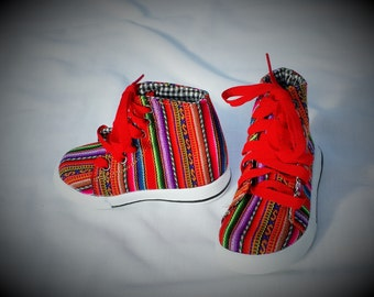 Size 12 Lliclla Andean Fabric- Children Hightops