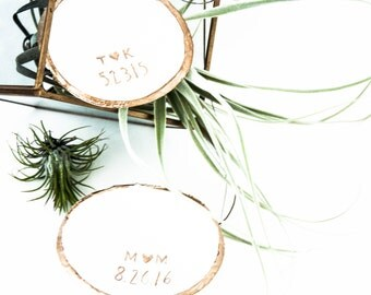 Date and Initials // Classic Jewelry Dish