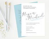Simple Pretty Modern Wedd...