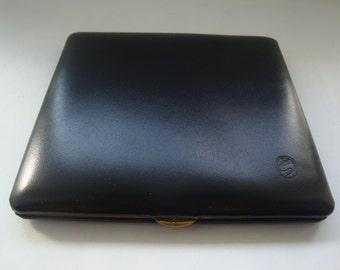 Vintage Dereso Black Leather Cigarette Case