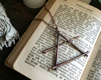 Alchemy Air Symbol Pendant / Air Sign Necklace/ Air Symbol Necklace / Air Element Jewelry Wiccan jewelry Pagan jewelry Witch jewelry Foxlark