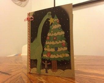 Dinosaur Christmas Card: Brachiosaurus