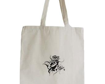 Tote Bag, Reusable Shop Bag, Tribal Symbol