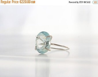 ON SALE PEACE | Ring aquamarine and 925 sterling silver