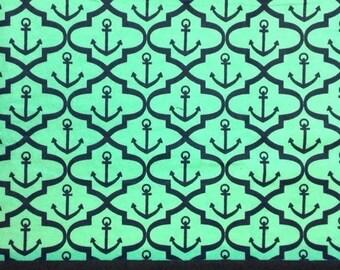Nautical anchor  flannel pillowcase