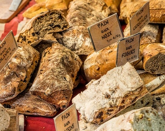 French Bread, France Photography, Aix-En-Provence, South of France, Summer in France, Fine Art Print, French Market, Provence, Abstract Art