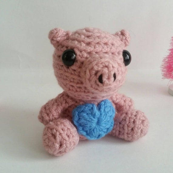 Amigurumi Pig Tail : Mini Amigurumi Pig Crochet Mini Pet Piglet by ...