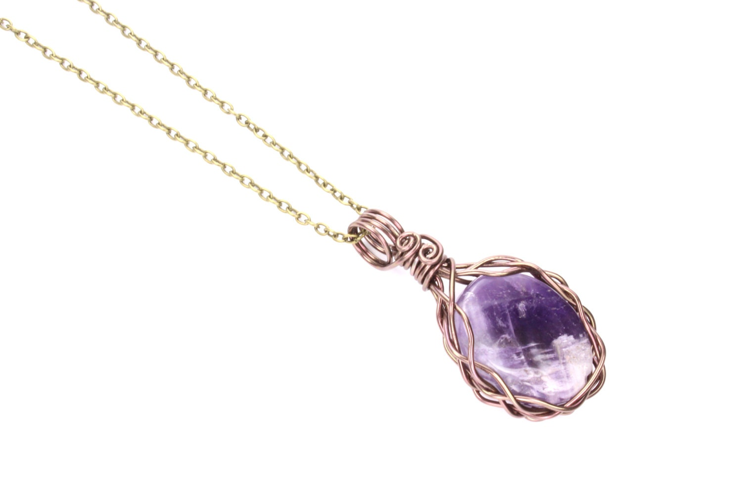 amethyst crystal necklace - photo #20